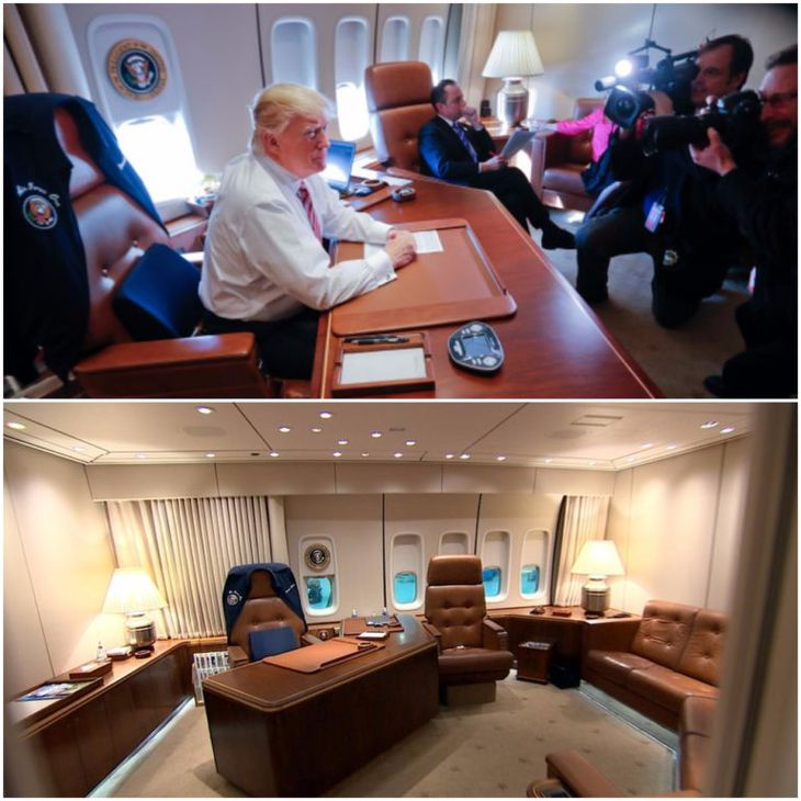Next To The Oval Office, Trumpu0027s Private Air Force One Office Is Probably  The Most Significant Quarters For The President. This Small Office May  Appear To ...